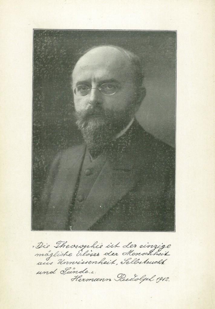 Foto af Hermann Rudolph (1865-1946) er signeret i 1912, hvor der tyske original blev udgivet i Leipzig.
