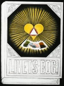 Martinus skitse 1928 til forside af Livets Bog 1