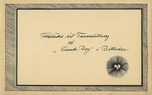 """Det symbolske tegn, der var på forsiden af skitsebogen, brugte Martinus også som underskrift i sit brev til Krishnamurti den 04.12.1924. som i 1924 Martinus underskrev sit brev til Krishnamurti med. Det tegn, som Martinus brugte som underskrift, var en trekant med flammer inden i et hjerte, der var omgivet af et lysende strålehav. Flammerne, der udgår fra trekantens tre sider, er ligesom de gul-grønne flammer på den trekant, der symboliserer """"det fuldkomne menneske i Guds billede"""" på symbol nr. 21 i Det Evige Verdensbillede, bog 2. Det fuldkomne menneske kan dagsbevidst opleve de kosmiske livsfacitter og verdensaltets struktur. Samme år 1924 anskaffede Martinus sig en skitsebog, hvis forside bærer titlen: Forstudie til Fremstilling af """"Livets Bog"""" i Billeder. Man kan læse mere om historien bag denne skitsebog i Julebrev 2011, www.martinus. På skitsebogens forside ser man det samme tegn, som Martinus senere på året brugte i brevet af 04.12.1924, nemlig en trekant med flammer inden i et hjerte omgivet af et strålevæld."""
