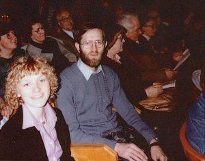 Ole Therkelsen, Henry Hedegaard, Lise Gordon. Martinus Bisættelse i 1981 i Tivoli